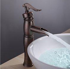Vintage Centerset cuivre antique mitigeur en laiton lavabo robinet Antique  Copper, Bathroom Sink Taps, c95f0514110e