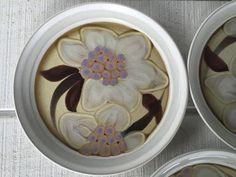 Retro stoneware dinner plates Noritake Oriental Garden Japan