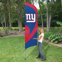 NEW YORK GIANTS 8.5 FOOT TALL TEAM FLAG 11.5  POLE SIGN BANNER NFL 8354b78fe