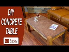 DIY Polished Concrete Coffee Table with Crushed Glass - DIY Projects With Pete