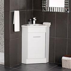 First floor bath on pinterest corner sink bathroom - Corner sink and vanity unit ...