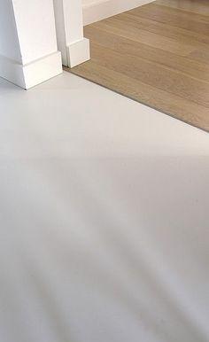 Afbeeldingsresultaat voor overgang houten vloer gietvloer