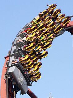 Iron Wolf Roller Coaster | Iron Wolf Roller Coaster at Six Flags Great America, Gurnee, Illinois ...