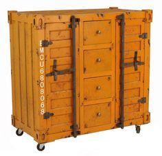 Shipping Container Combo Cabinet - Matt Blatt