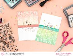 Elegant Monochromatic Cards | Zinia Amoiridou