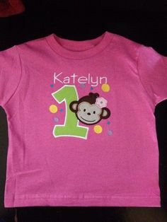 My friend makes these they are so cute and make great gifts!!!   Mod Monkey Girl Birthday Shirt 1st 2nd 3rd by mycamillescreations, $22.00