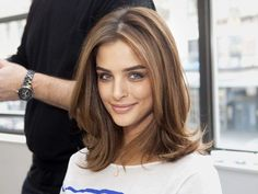 Shoulder Length Layered Hairstyle for Brown Hair