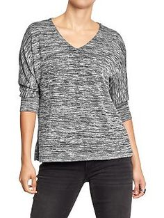Womens Marled Half-Sleeved Sweaters Old Navy $16
