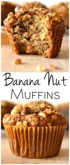 These Banana Nut Muffins are moist, delicious, full of flavor and stay fresh for days | Great for breakfast, dessert or a snack | Everyday easy baking | www.craftycookingmama.com