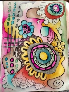 Day 2 still a work in progress but love where this is going...doodle art journal…