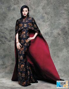 Chinese actress Fan Bingbing  http://www.chinaentertainmentnews.com/2015/09/fan-bingbing-covers-vogue-fashion.html