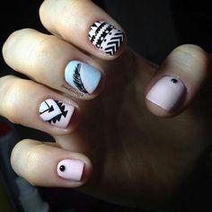 @Regrann from @meliloga -  Clienta feliz  ama los tribales y tonos pasteles  #nail #nails #nailart #nailbar #nailsart #nailswag #nailscute #nailsofig #nailstagram #nailstyle #nailshop #nailsaddict #nailstamping #nailsartaddict #nailsaddict #cutenails #manicure #manicurista #manos #pies #colorfulnails #instanails #stampingplates #stamping #stampart #estapado #placa #ibagué #ibague #tolima #colombia by unasalocolombiano