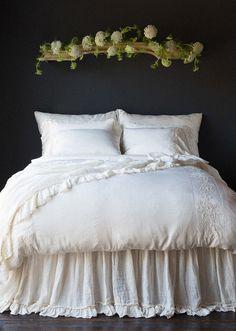 Duvet Bedding, Comforter Sets, Linen Duvet, Linen Bedroom, Bedroom Decor, Bedroom Bed, Bedding Decor, Master Bedrooms, Bed Scarf