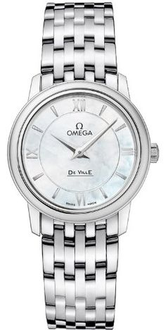 Omega De Ville Prestige Mother of Pearl Dial Stainless Steel Ladies Watch
