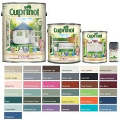Details about Cuprinol Garden Shades Paint - Furniture Sheds Fences - All Colours and Sizes - Vine Ideas Painted Garden Sheds, Garden Fence Paint, Painted Garden Furniture, Painted Shed, Painted Cottage, Garden Painting, Diy Garden, Garden Fencing, Colorful Furniture