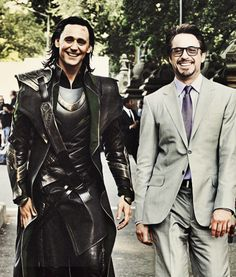 Loki and Tony. my glorious glorious otp.