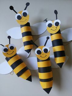 Have a toilet paper roll? Here are some easy toilet paper roll crafts ideas that you can teach your preschooler or older kid. Toilet Paper Roll Diy, Paper Towel Roll Crafts, Toilet Paper Roll Crafts, Cardboard Crafts, Bee Crafts, Crafts To Do, Preschool Crafts, Easy Crafts, Crafts For Kids