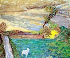 Pejzaż z łąką, oil, Henryk Gotlib