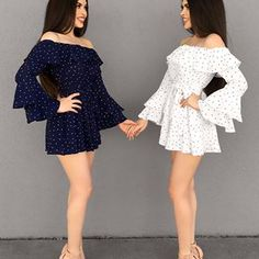Left or Right ...? Blue or White ...? ✨ Tag your BFF 👯✨ •Anzeige Twin Outfits, Matching Outfits, Cute Outfits, Girl Fashion, Fashion Dresses, Fashion Tag, Mother Daughter Fashion, Cute Short Dresses, Tumbrl Girls