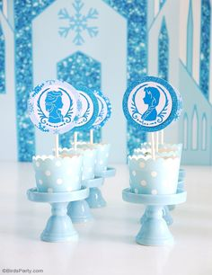 Frozen inspired birthday party with lots of creative DIY decorations, party food ideas, printables, favors and desserts table styling - perfect for a winter birthday!
