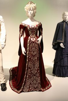 This is from Anna Karenina (2012) -- Apparently this is meant to be a court gown, which explains the antique design elements which allow it to work, I think, as a fantasy Renaissance dress, even though it's from a 19th c. period piece.