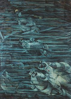 States of Mind: Those Who Stay  by Umberto Boccioni