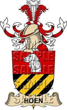 Hoen Family Crest apparel, Hoen Coat of Arms gifts