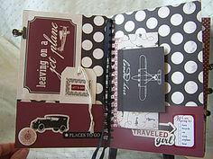 "Dawna's Place: Carta Bella ""Well Traveled"" Vintage Travel Journal"