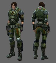 Concept art of standard armor from XCOM: Enemy Unknown