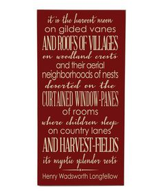 Look at this #zulilyfind! Red 'Harvest Moon' Wall Art #zulilyfinds