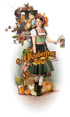 """""Oktoberfest Time"" Contest"" by ellen-hilart ❤ liked on Polyvore featuring art"