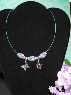 Butterfly Queen Choker by OurBeadedCharms on Etsy, $7.00