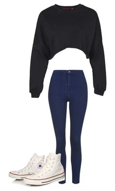 Untitled #105 by fangirlmuch on Polyvore featuring polyvore, fashion, style, Boohoo, Topshop and Converse