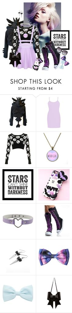 """Pastel Goth #3"" by kaorikuro ❤ liked on Polyvore featuring BKE, Samsung, MM6 Maison Margiela and Linda Farrow"