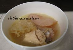 The Chinese Soup Lady & Chinese Soup Recipes » Blog Archive » Fresh Snow Pears in Chicken Soup with Snow Fungus