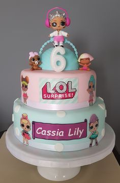Doll Birthday Cake, Funny Birthday Cakes, Birthday Parties, 7th Birthday, Surprise Cake, Surprise Birthday, Lol Doll Cake, Occasion Cakes, Girl Cakes
