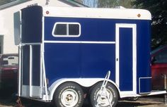 Horse Trailer Paint Jobs | My repainted yet still more painting horse trailer / photos