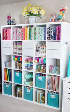craft room organization * craft room ideas + craft room organization + craft room storage + craft room design + craft room + craft room office + craft room ideas on a budget + craft room decor Sewing Room Design, Sewing Room Storage, Craft Room Design, Craft Room Decor, Sewing Room Organization, Craft Room Storage, Storage Ideas, Organization Ideas, Studio Organization