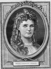 CHRISTINE NILSSON 1870 RARE ANTIQUE PORTRAIT