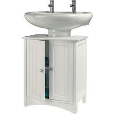 Bathroom Storage Cabinet Vintage Under Sink Wooden Unit Cupboard Doors Shelf New…
