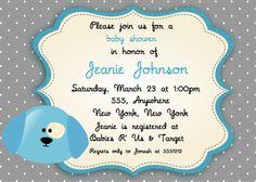 Puppy Baby shower Invitation - You Print. $7.00, via Etsy.