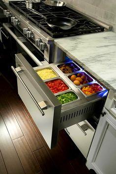 "Moe💜💛 on Twitter: ""Refrigerated drawers 😮 Yep, I need these.… "" Kitchen Decorating, Diy Kitchen Storage, Home Decor Kitchen, Kitchen Organization, Kitchen Furniture, New Kitchen, Furniture Stores, Kitchen Small, Furniture Repair"