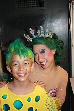 Photo of Flounder and a Mersister for fans of The Little Mermaid on Broadway. Little Mermaid 2016, Little Mermaid Makeup, The Little Mermaid Musical, Little Mermaid Costumes, Animation Film, Disney Animation, Disney Animated Films, Rainbow Fish, Theatre Makeup