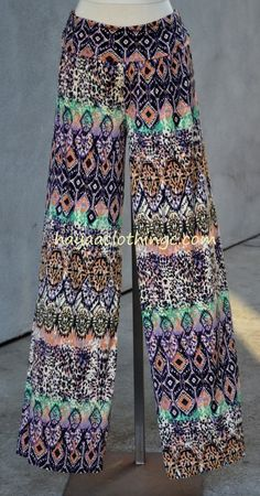 Look for Wide leg pants that are modest and fashionable at Hayaa Clothing Wide Leg Palazzo Pants, Wide Leg Pants, Harem Pants, Ikat Print, Casual Pants, Going Out, Legs, Purple, How To Wear