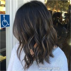 It would be a handicap not to love this dimension. #hairdimension #burnette #asian #lob