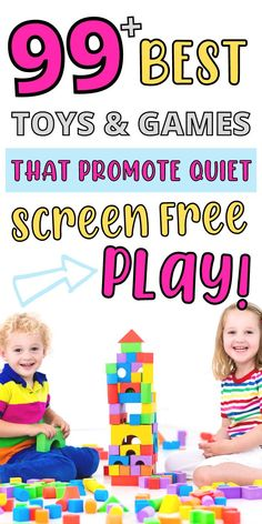 Here are 100  best toys (for younger and older kids) to encourage independent screen free play for kids aged 0-12. Whether you need to get some  work done, cleaning, cooking or you just need a couple of minute to relax and refuel these best screen free toys are the best and easiest way to promote screen free quiet time play. Lego For Kids, Craft Kits For Kids, Puzzles For Kids, Science For Kids, Kids Painting Activities, Indoor Activities For Toddlers, Preschool Activities, Time Activities, Building For Kids