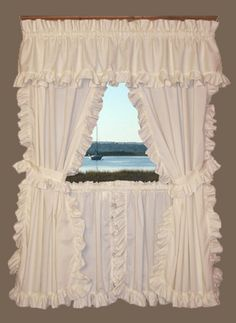 cape cod ruffled curtains