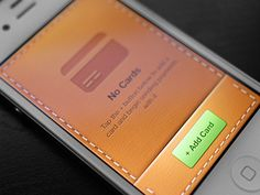 Leather #interface #mobile #ui