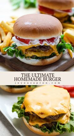 Best Beef Burger Recipe, Grilled Burger Recipes, Gourmet Burgers, Beef Recipes, Easy Burger Recipes, Simple Burger Recipe, Best Cheeseburger Recipe, Grilling Recipes, Homemade Burger Patties