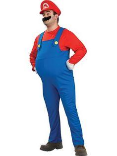 Mens Deluxe Super Mario Bros Mario Costume